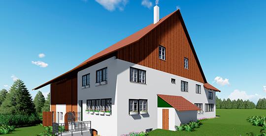 modelo casa en 3d con BIM