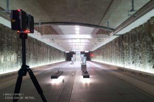 Escaner laser y modelado BIM estacion de metro granada