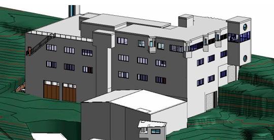 Escaneado Láser con modelo bim - hotel - planta industrial