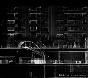 Detalle de ortofoto que muestra el resultado del escaneado con láser 3D de una estación del Metro en Granada
